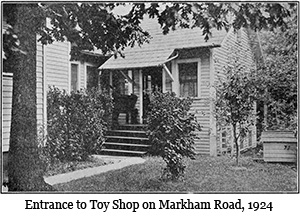 Entrance to Toy Shop on Markham Road, 1924