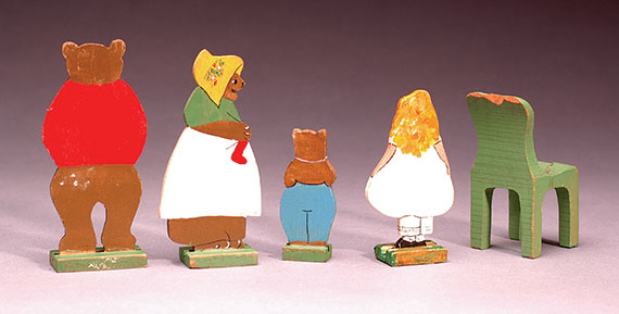 Goldilocks and the Three Bears set complete with furniture